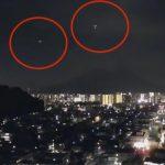 鹿兒島驚見UFO空戰!大量光點編隊飛越火山